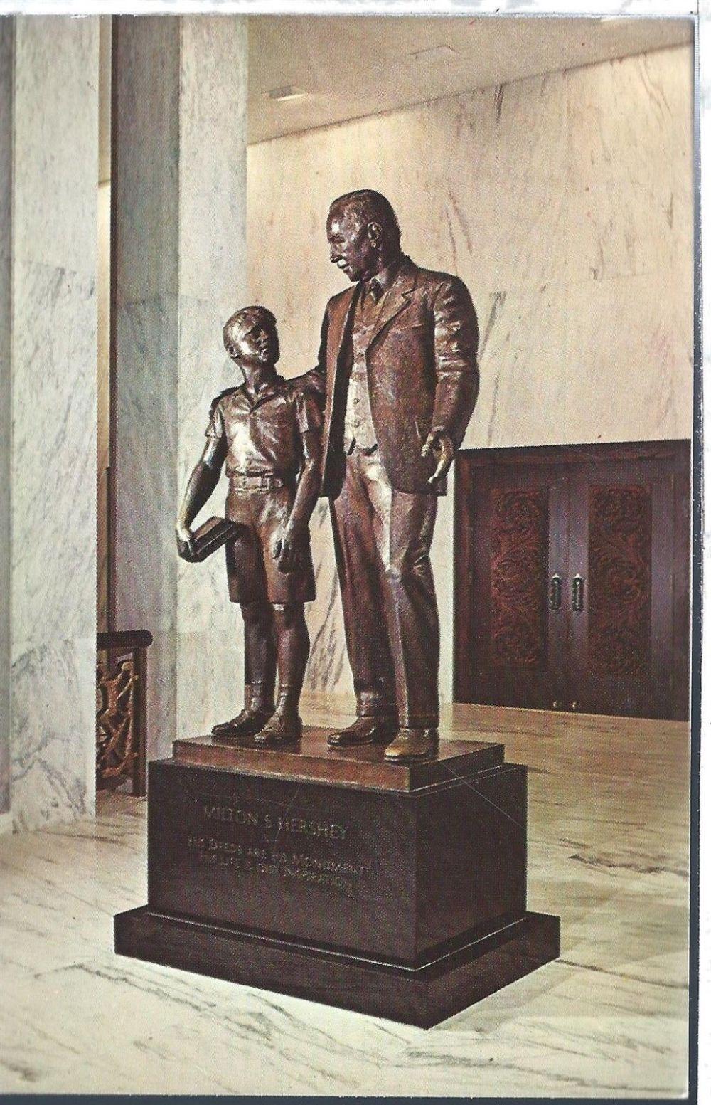 vintage-postcard-pennsylvania-pa-milton-hershey-school-statue-chrome-45661-770a3501b7a4c4234a94abaf0a9e264a